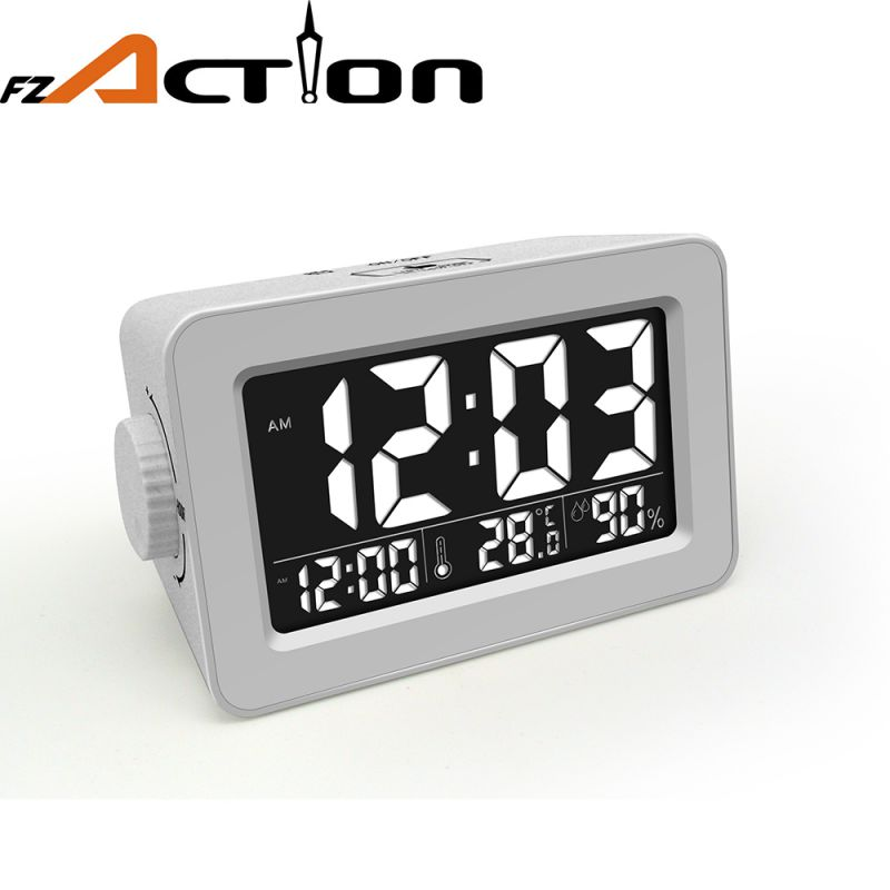 colorful LCD display alarm clock with USB port