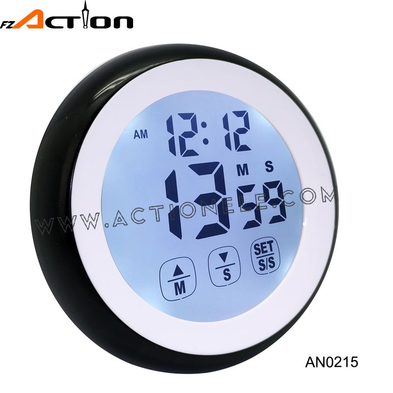 2016 New Cheap Digital Clock with Timer with Touch Screen Setting