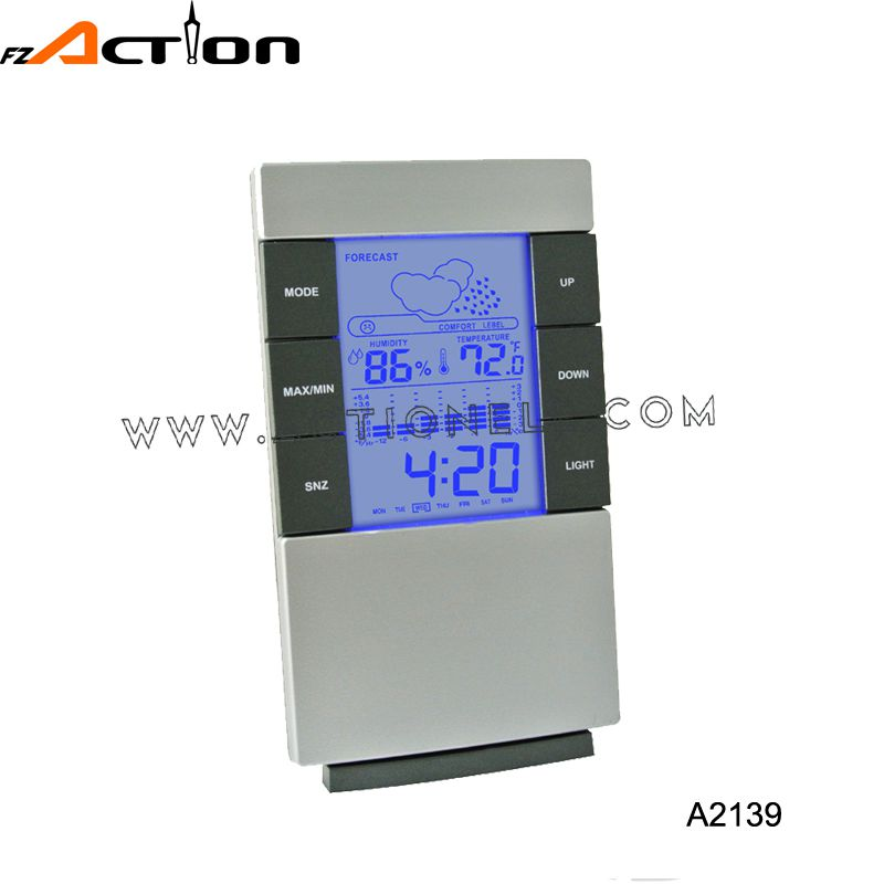 Cheap weather station clock with Max/Min recorder