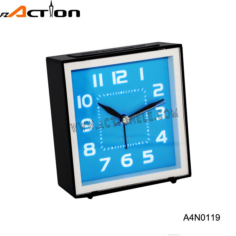 Analog Table Clock with LED Backlight and snooze