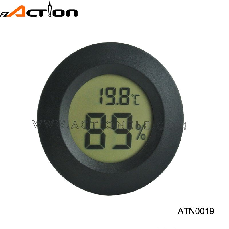 Round Shape LCD Digital Temperature and Humidity