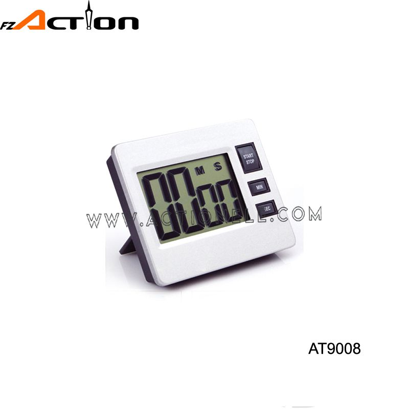 Digital countdown timer with aluminum cover