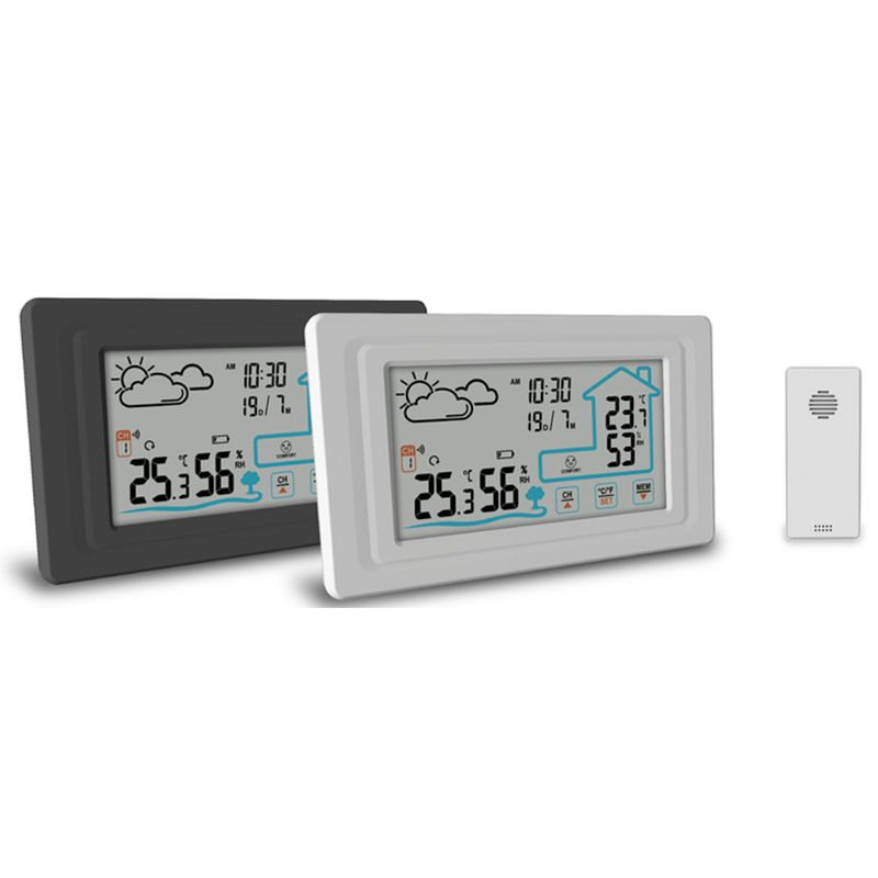 Weather Station with Outdoor Sensor Wireless Weather Station Indoor Outdoor Digital Thermometer Hygr